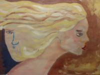 4 TIZIANA CASELLA - Il Vento e Me - Tempera su cartone