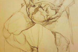21 PAOLA MARTINA - Il pane tra le mani - Grafite su carta 2019