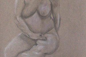 5 NATALINA BOTTACIN - Maternità - Fusaggine e pastello gessoso bianco colorato 2020